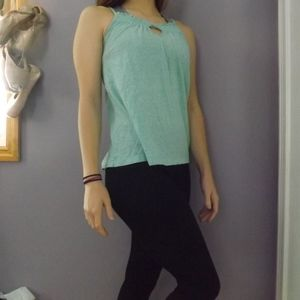 Tops - Blue Keyhole Tank Top